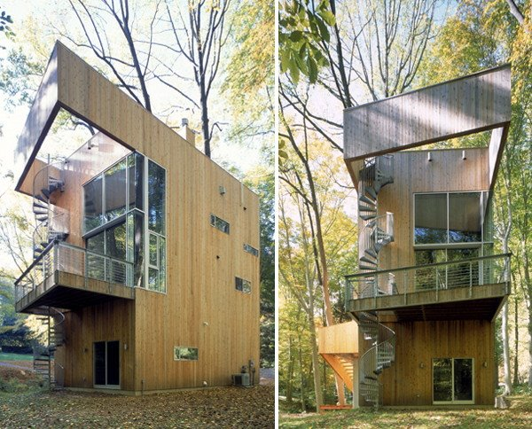Tree House Design — wooden house, modern house design, modern tropical house, interior design