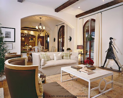 Villa Sienna family room, interior design