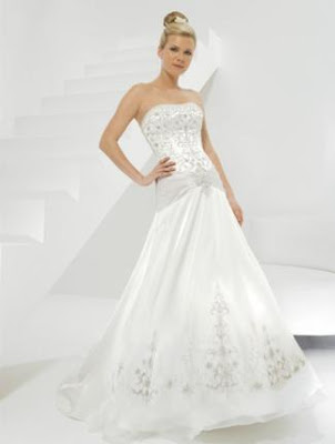 Allure Bridals wedding dresses, strapless dress, modern wedding dresses