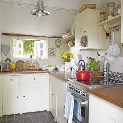Compact country kitchen, interior design, kitchen