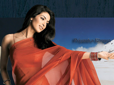 Priyanka Chopra wallpaper in Saree wallpapers