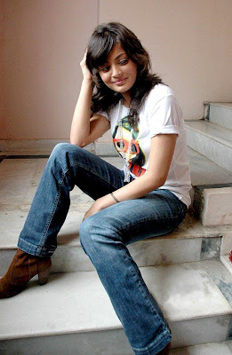 Sneha in Blue Jeans