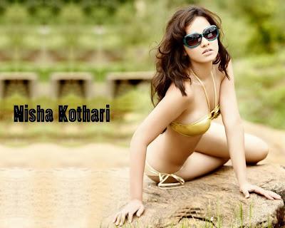 bikinis wallpapers. Nisha kothari hottest bikini wallpaper ever.