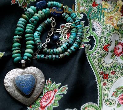 irańskie serce z lapisu