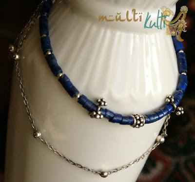 lapis lazuli i łańcuszek