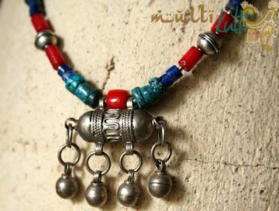 etniczna biżuteria beduińska; naszyjnik