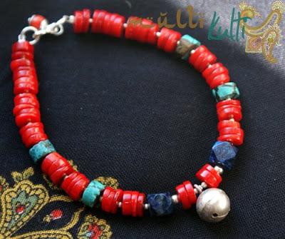 bransoletka czerwony koral