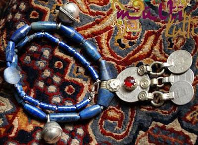 lapis lazuli naszyjnik etniczny