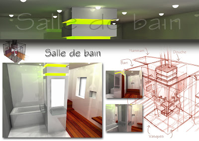 Architecte int rieur divers etudes salle de bain for Etude architecte interieur