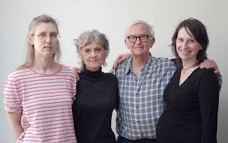 De izq. a dcha., Tanja Meding, Sally Gross, Albert Maysles y Kristen Nutile. c. Michael Hosenfeld.
