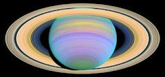 Saturno en luz ultravioleta