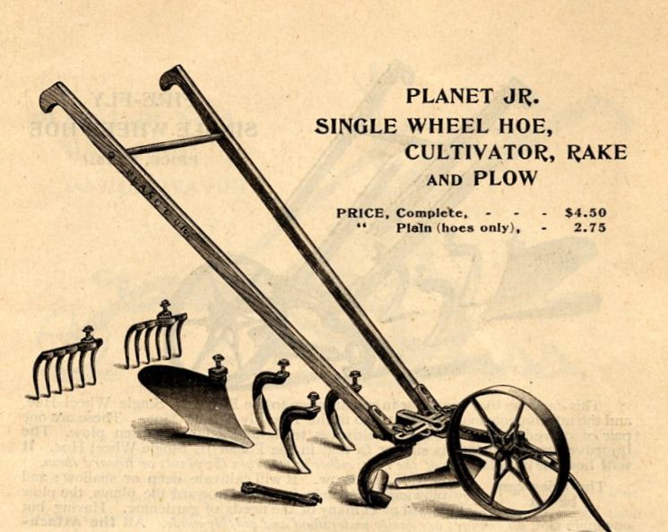 Anyone can build a planet whizbang wheel hoe read this for Gardening tools for 6 year old
