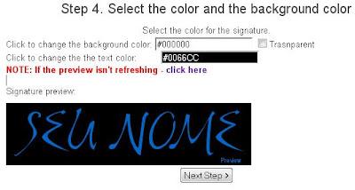 escolha a cor