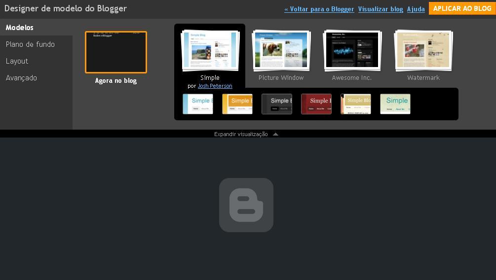 Crie seu template para o Blogger com o Designer do Modelo