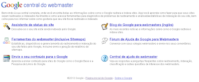 Google - Central do Webmaster