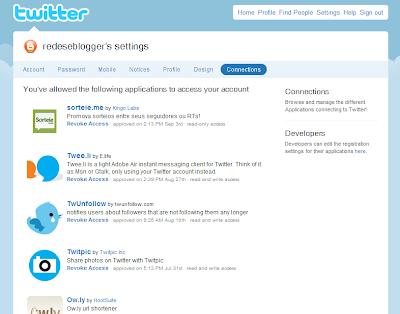 Aplicativos Twitter