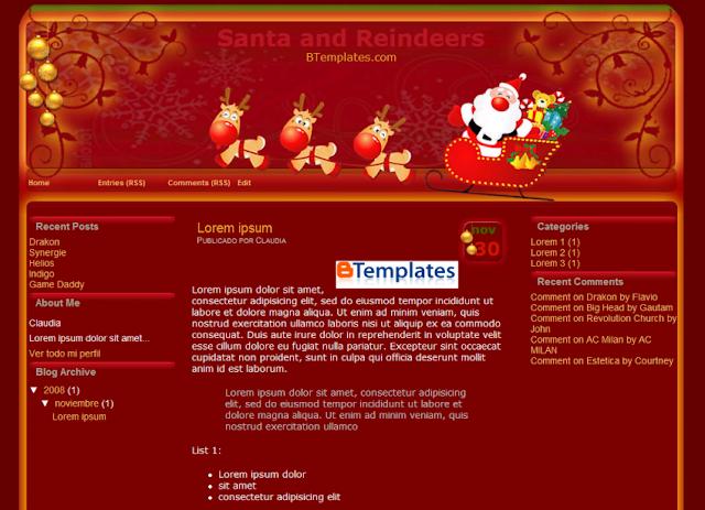templates-santa-and-reindeers