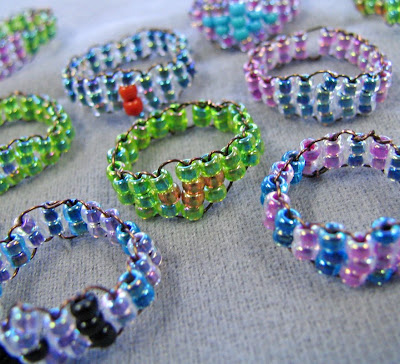 How to make Woven Seed Bead Rings