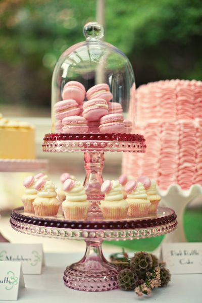 Pretty little things sweet dessert table details for Pretty cake stands