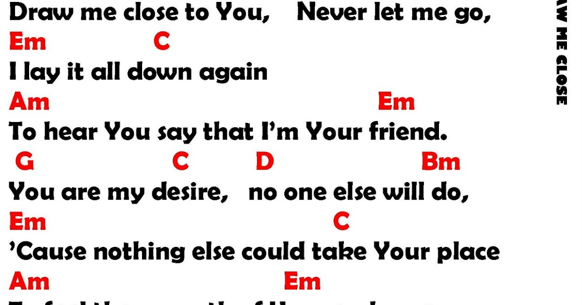 Draw Me Close By Michael W Smith Lyrics And Chords Faith And Music