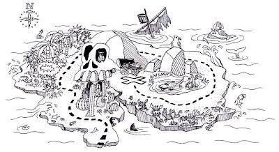 Plantilla de mapa del tesoro.