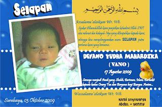 kartu ucapan selapan created gambar kartu ucapan kelahiran bayi ...