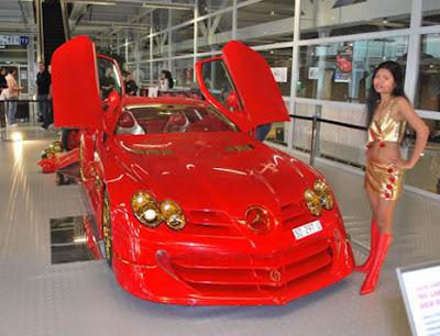 ... mobil Mercedes-Benz SLR McLaren yang dimodifikasi oleh desainer Swiss