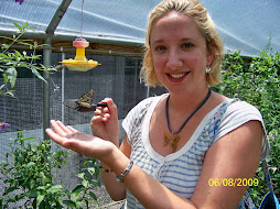 Me holding a butterfly on the tour