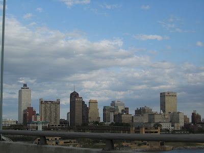 Memphis Skyline From Hernando-Desoto Bridge