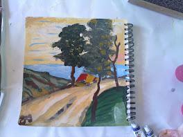 انا مرح -بصف الثالث- بحب أرسم طبيعة - وبحب اللون الأخضر