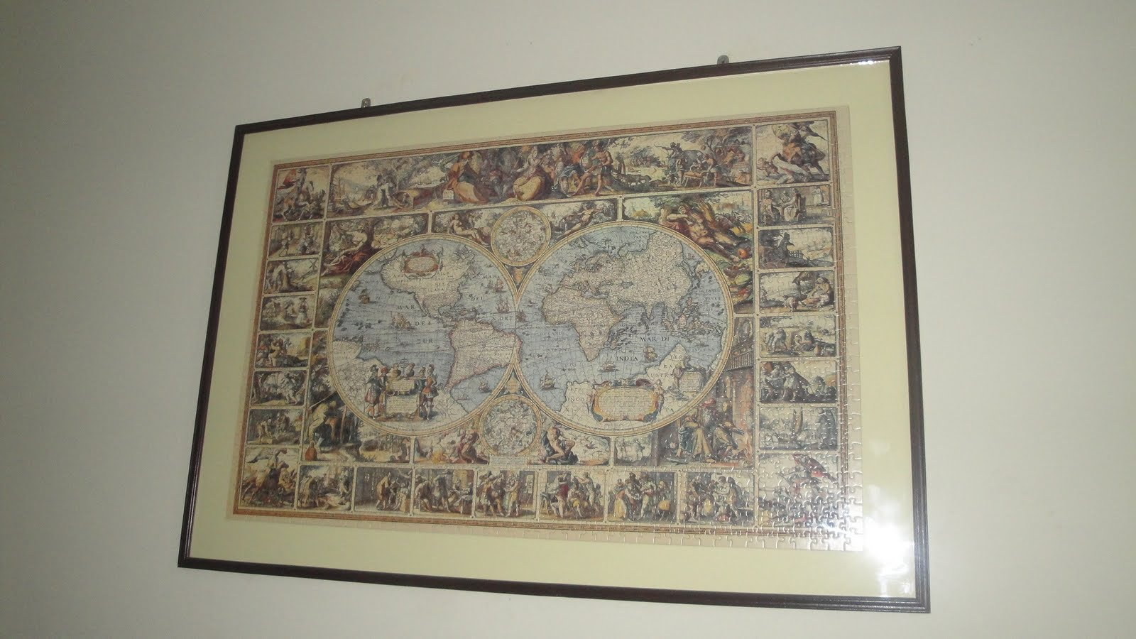Indika rathnasekaras blog antique world map jigsaw puzzle antique world map jigsaw puzzle gumiabroncs