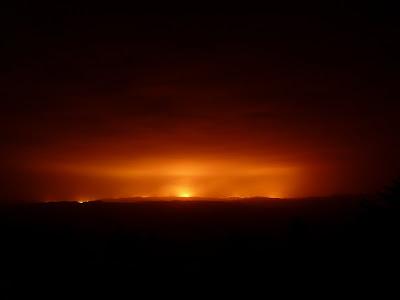 Fuego en las sierras de Córdoba, Argentina