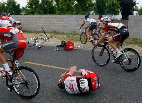Lance Armstrong Crash