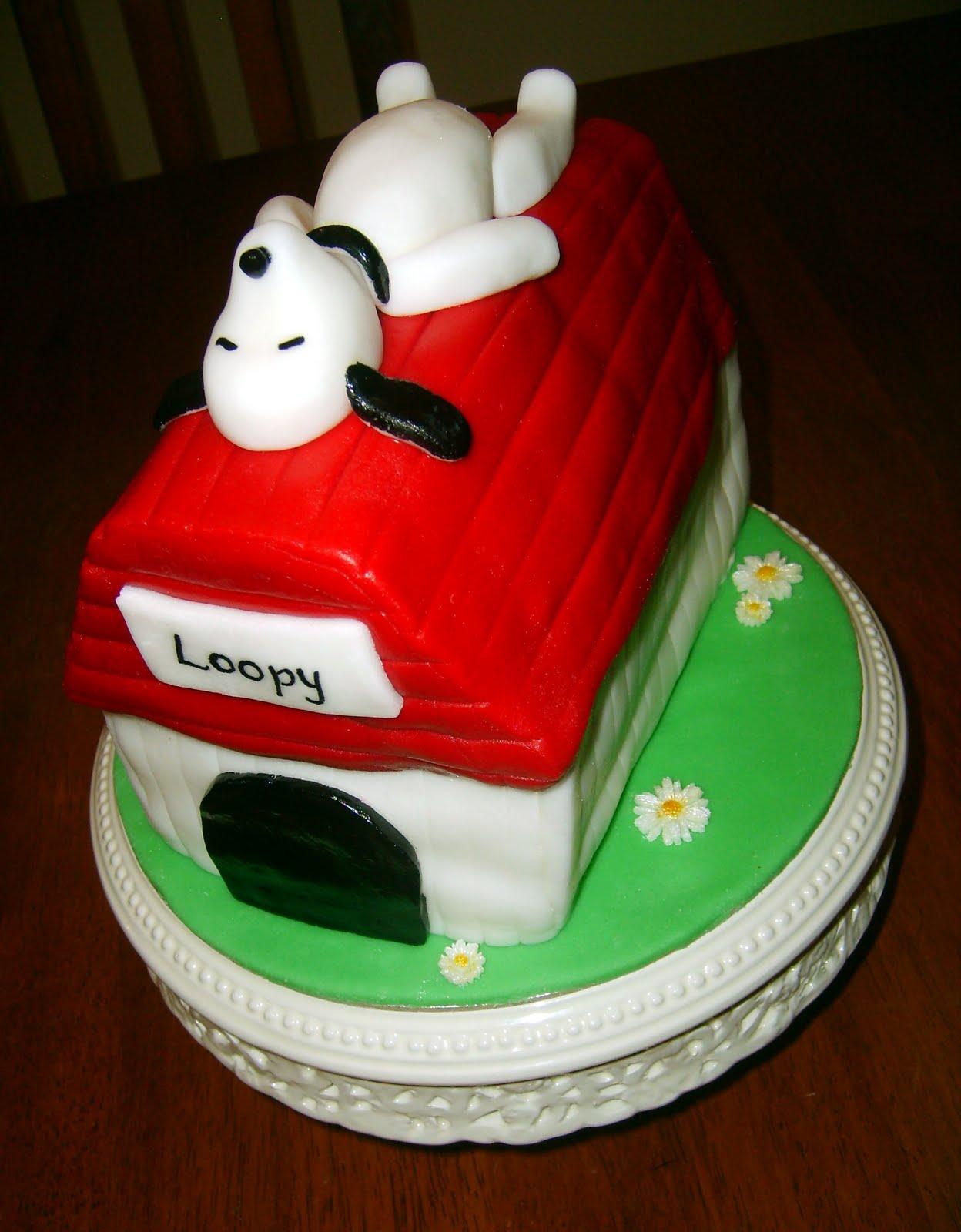 how to make a snoopy birthday cake