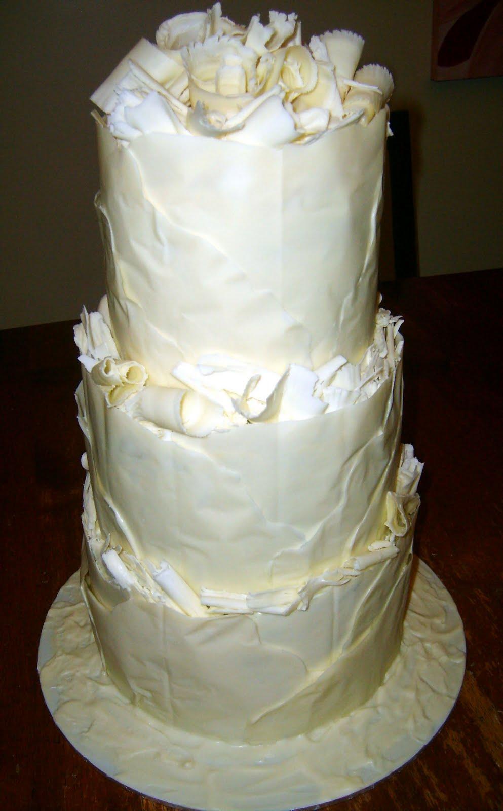 Caketopia: White Chocolate Wrapped Wedding Cake