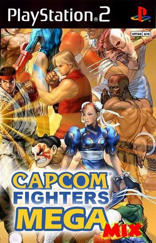 Torrent Super Compactado Capcom Fighters Mega Mix PS2