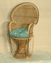 Natural colored peacock chair