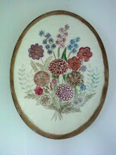 Painted Flower Plaque