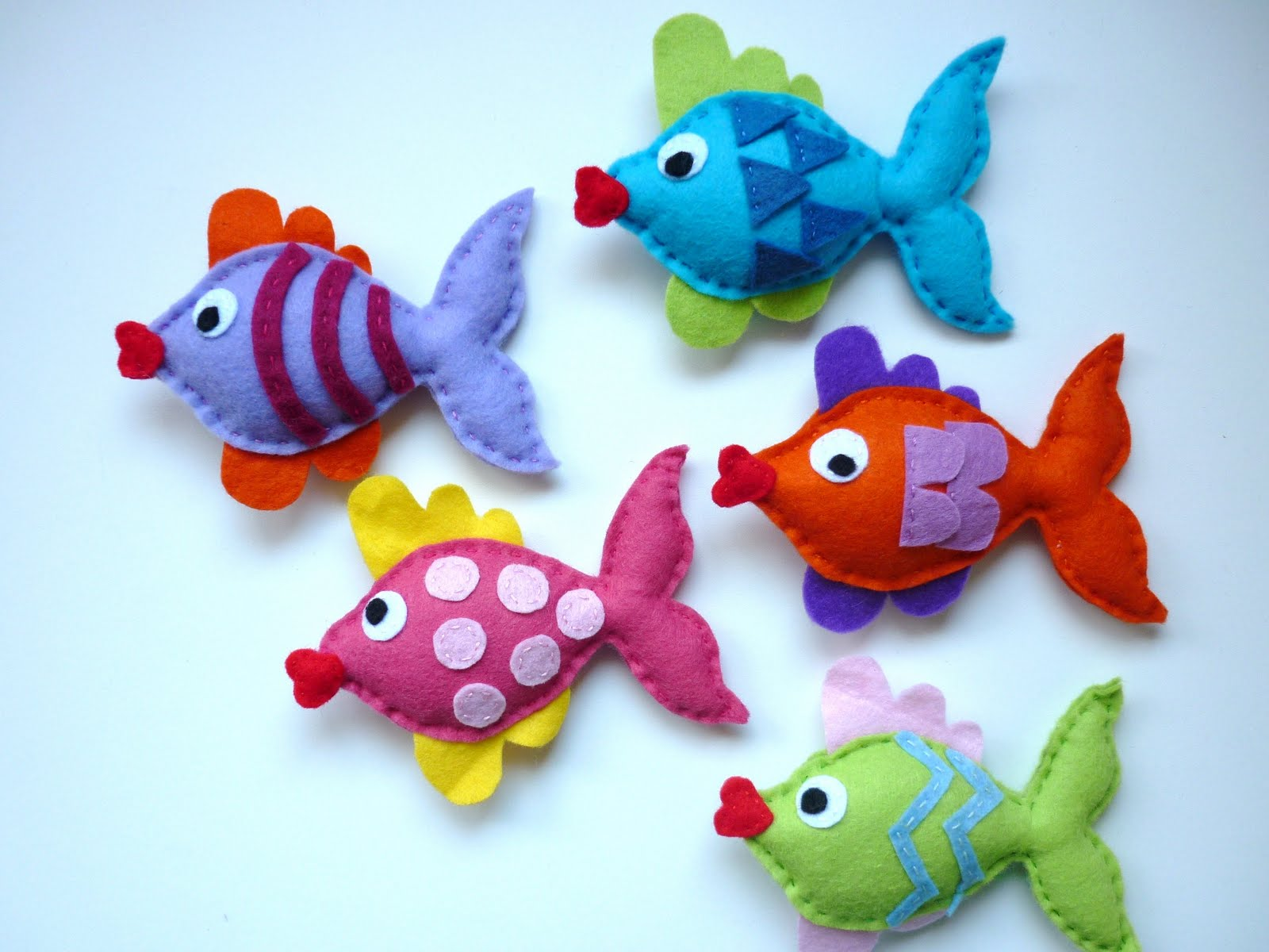 Maisie moo rainbow kissing fish mobile for What to make with fish