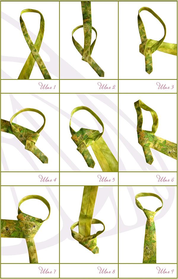 Как завязать галстук который на резинке пошагово