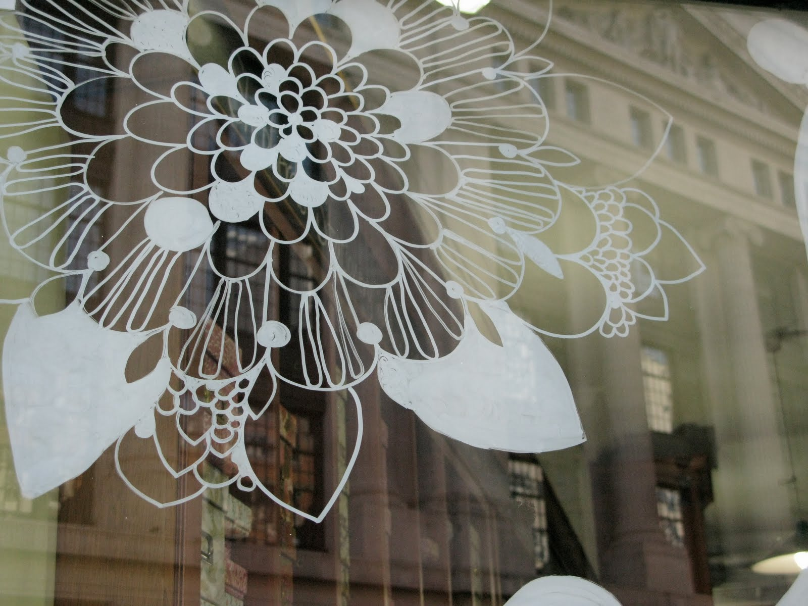 Spring window painting - Spring Window Dressing Spring Window Painting