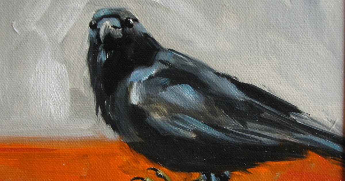 Acrylic Paintings Of Crows