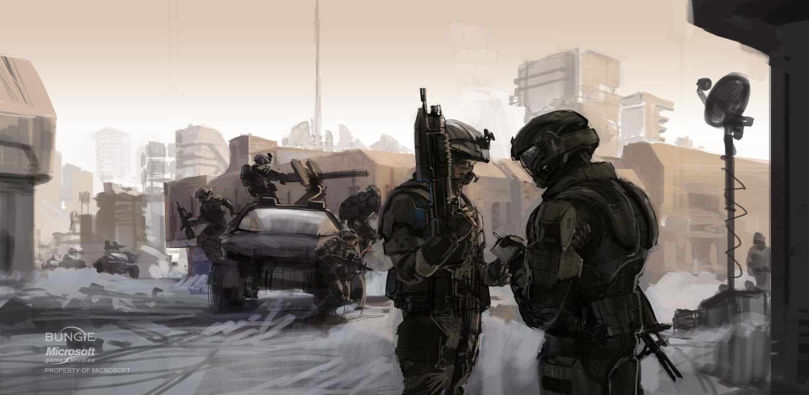 Halo 3: ODST Concept Art – Concept Art World