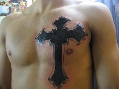 (image) Body cross tattoo. (image)