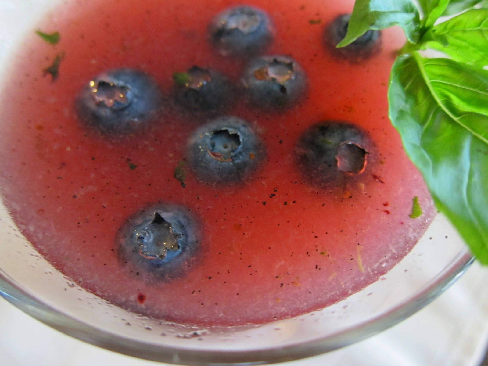 Garlic and Sea Salt: Blueberry Basil Martini