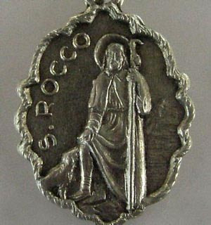 medal of St Roch and his dog