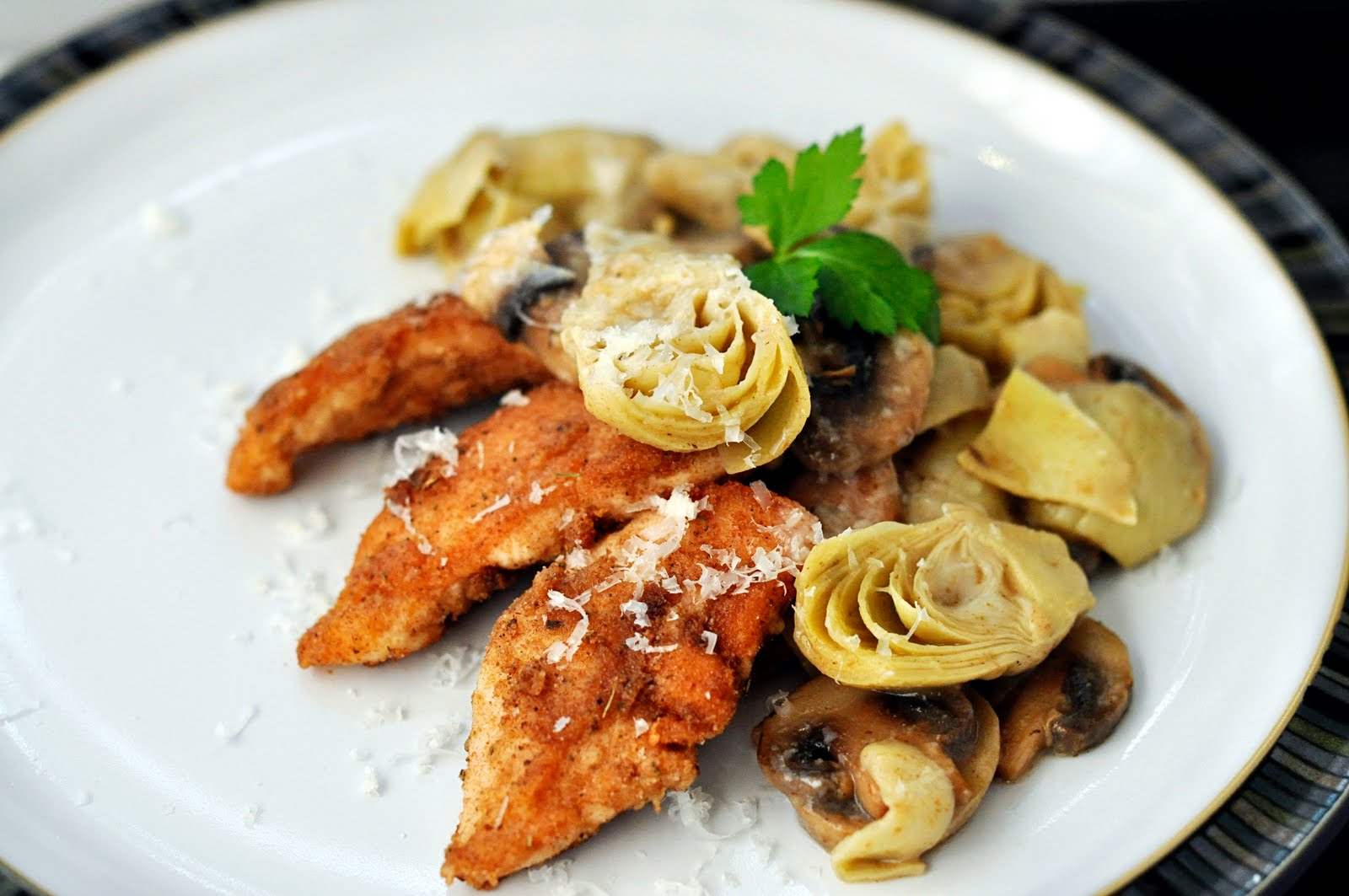 C + C Marriage Factory: Chicken and Artichokes with Wine Sauce