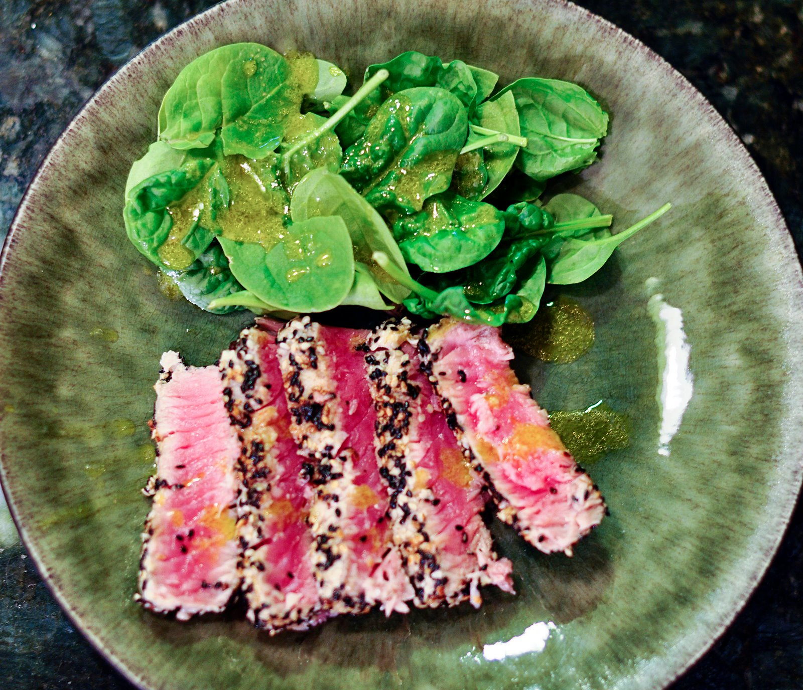 Sesame Seared Tuna With Soy Lime Noodles Recipe — Dishmaps