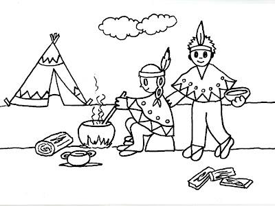 Dibujos gratis para imprimir y colorear de indios 圖片, 上色: Dibujo ...