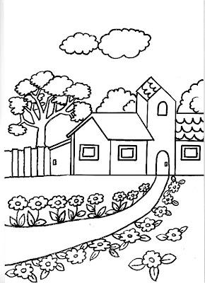 Dibujos gratis para imprimir y colorear de casas y castillos